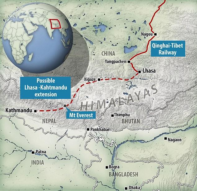 Planul liniei de calea ferată. Foto: Daily Mail
