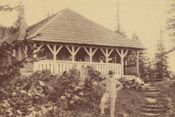 Cabana Postăvaru, 1908. Foto: cabanapostavaru.ro