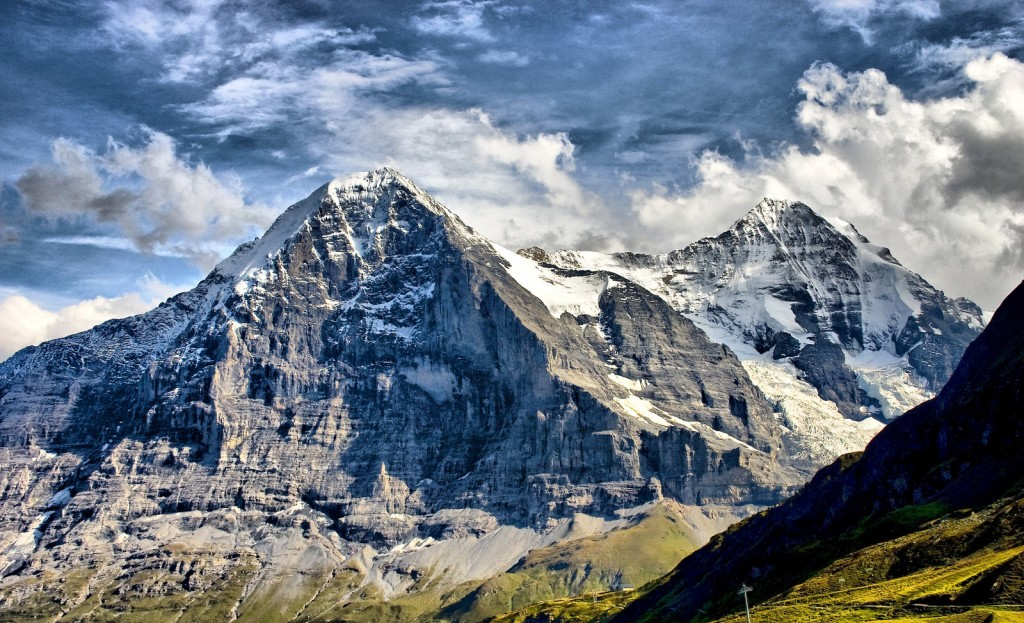 Eiger (3.970 m), Elveția. Foto: bongaloid