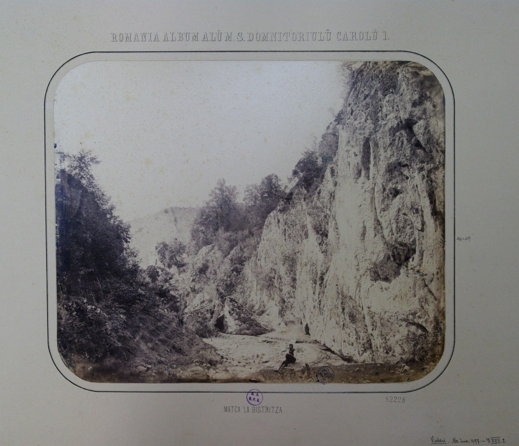 Malul Râului Bistrița (Matca la Bistrița), 1867. Foto: europeana.eu