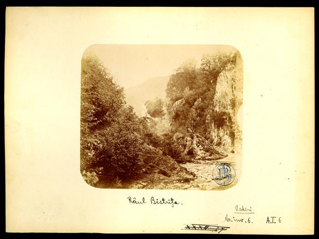 Râul Bistrița, 1866. Foto: europeana.eu
