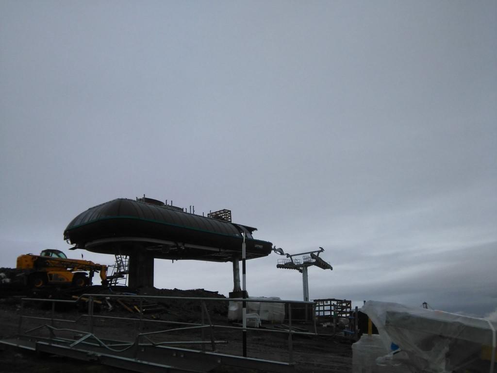 Stația superioară a tronsonului Cota 1400 - Cota 2000, la 1 octombrie. Foto: Bogdan Fălcescu/Facebook