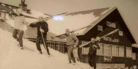 Cabana Vârful cu Dor, Munții Bucegi, anii 60. Foto: Turism de Altădată/Facebook
