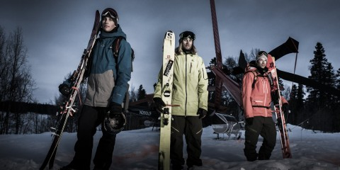 Richard Permin, Cody Townsend și Markus Eder. Foto: Red Bull